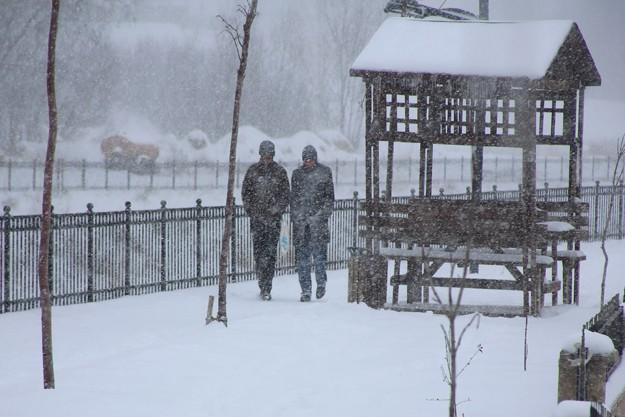 Bayburt, kara kışa fena tutuldu