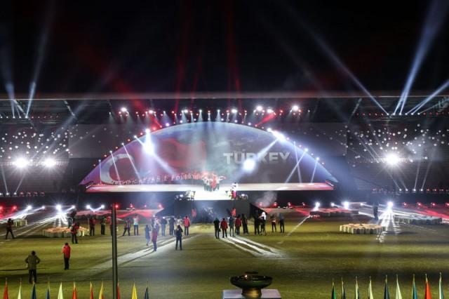 EYOF 2017 şöleni 'görkemli' başladı