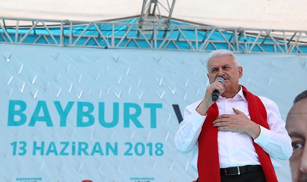 Son Başbakan Yıldırım, Bayburt'ta