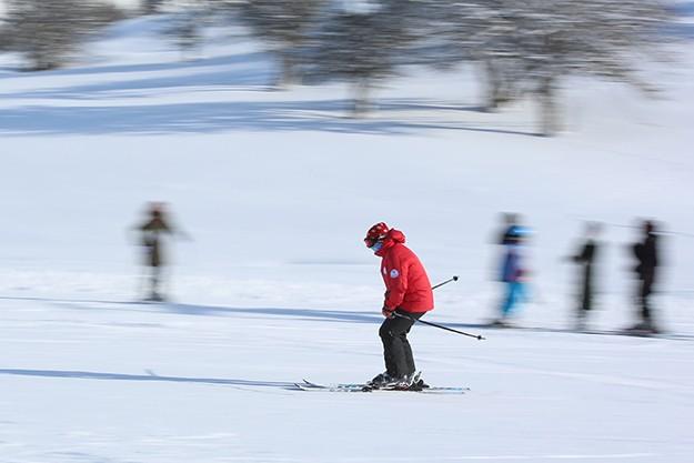 Kop'ta kayaklı günler başladı