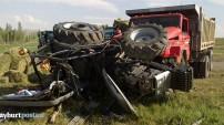 Kamyon, ot yüklü traktörle çarpıştı (Aydıntepe)