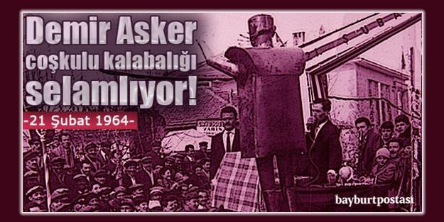 1964... 'Demir Asker' coşkulu kalabalığı selamlıyor