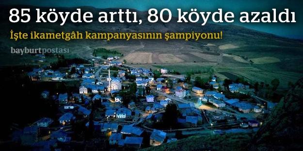 2014'te nüfusu en fazla artan köy