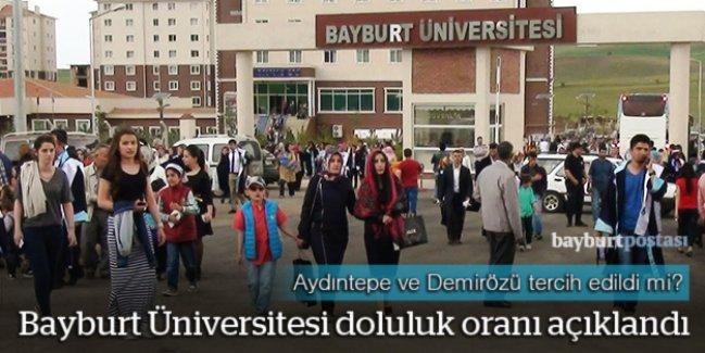Bayburt Üniversitesi doluluk oranı açıklandı