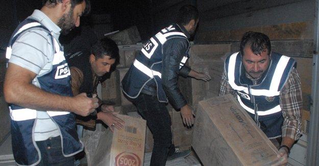 353 bin paket kaçak sigara ele geçirildi
