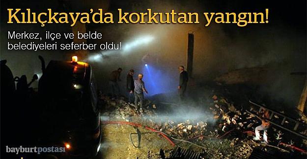 Kılıçkaya Köyü'nde yangın