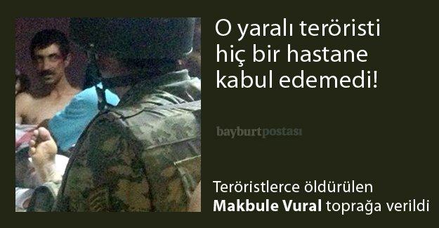 Yaralı terörist bölgede tepkiye neden oldu