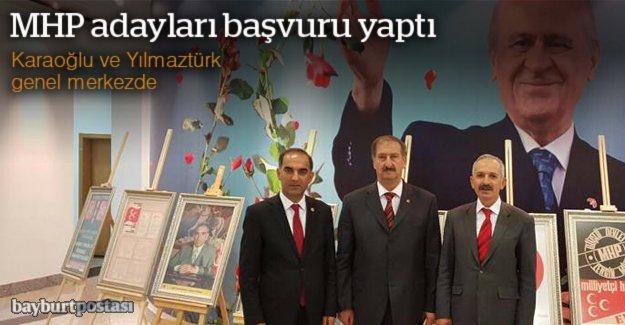 MHP adayları başvuru yaptı