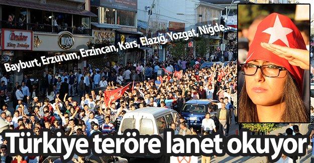 Türkiye ayakta, Türkiye terörü lanetliyor