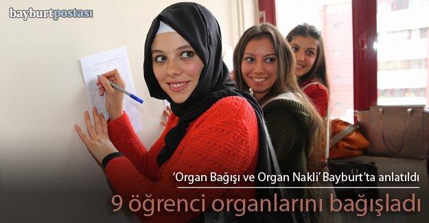 9 öğrenciden organ bağışı