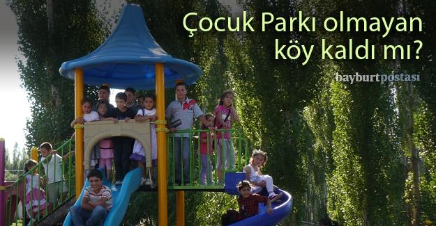 34 köye daha çocuk parkı yapılıyor