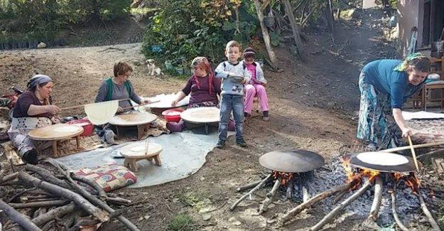 Erzurumlu kadınlardan imece usulü kış hazırlığı