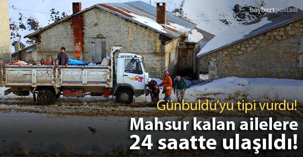Günbuldu'da mahsur kalan 8 aile kurtarıldı