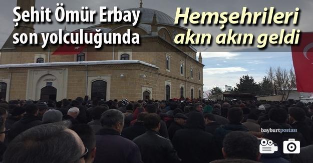 Binlerce kişi Şehit Ömür Erbay için bir arada