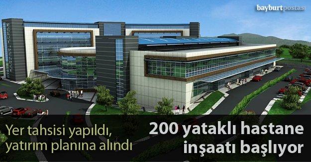 200 yataklı modern hastanenin inşaatı başlıyor