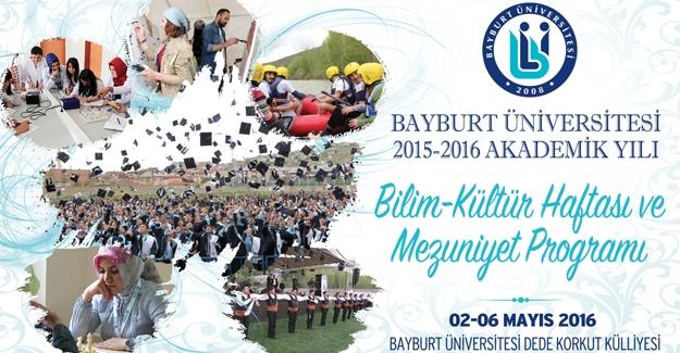 Bayburt Üniversitesi'nde 'Bilim Kültür Haftası ve Mezuniyet'