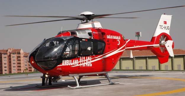 Helikopter ambulans 356 hasta için havalandı
