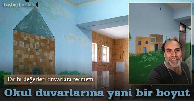 Okul duvarları tarihi değerlerle süslendi