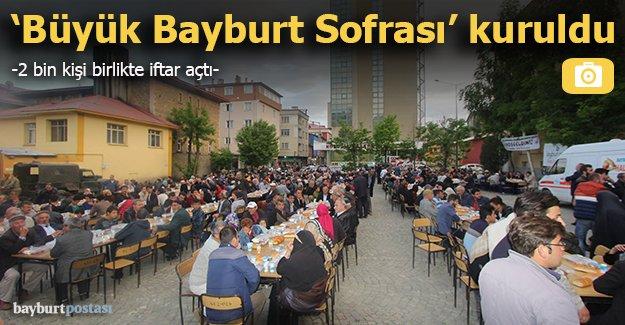 Bayburt'ta 4. Geleneksel Sokak İftarı