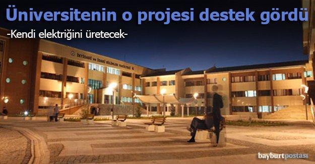 Bayburt Üniversitesi kendi elektriğini üretecek