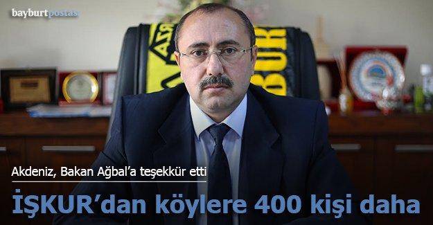 İŞKUR'dan köylere 400 kişilik kontenjan