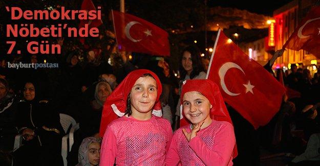 'Demokrasi Nöbeti'nde 7. gün