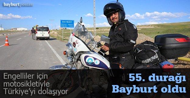 Engelliler için motosikletiyle Türkiye'yi dolaşıyor