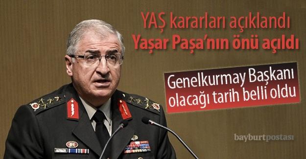 YAŞ kararları açıklandı: Yaşar Paşa'ya kritik görev!