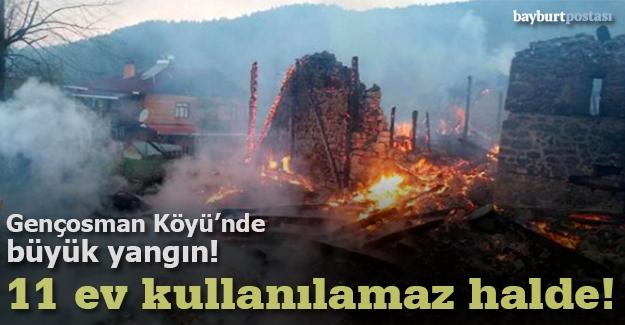 Gençosman Köyü'nde korkutan yangın!