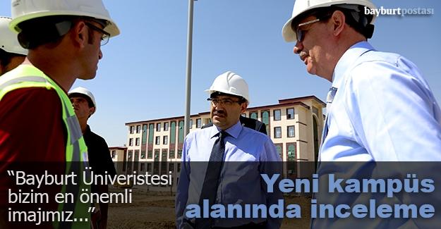 Vali Ustaoğlu, yeni kampüs alanını inceledi