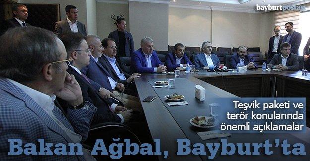 Bakan Ağbal, Kurban Bayramı için Bayburt'ta
