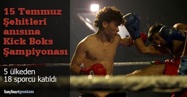 Bayburt'ta Kick Boks Şampiyonası