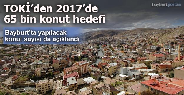 Bayburt'ta 830 konut inşa edilecek