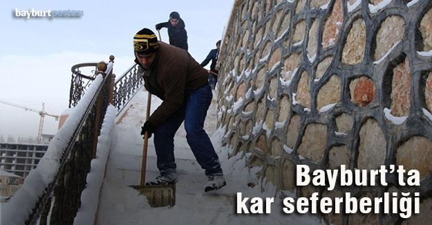 Bayburt'ta kar seferberliği