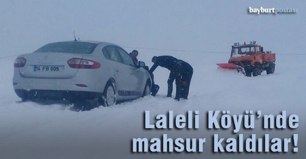 Kar yağışı ve tipi yüzünden yolda mahsur kaldılar