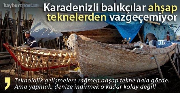 Karadenizli balıkçılar ahşap teknelerden vazgeçemiyor