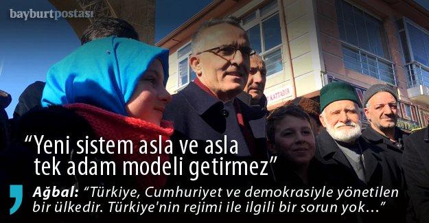 """Bakan Ağbal: """"Yeni sistem toplum birliğini pekiştirecek"""""""