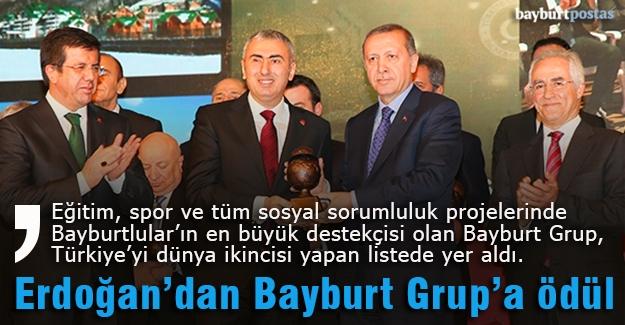 Bayburt Grup'a Cumhurbaşkanı Erdoğan'dan ödül