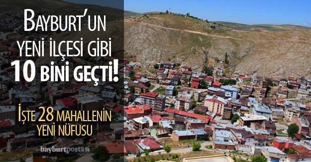 Bayburt'ta 20 mahallede nüfus arttı
