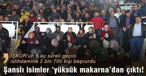 """İŞKUR şanslıları """"yüksük makarna""""dan çıktı"""