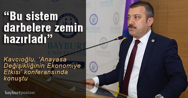 Kavcıoğlu'ndan ''Anayasa Değişikliğinin Ekonomiye Etkisi'' konferansı