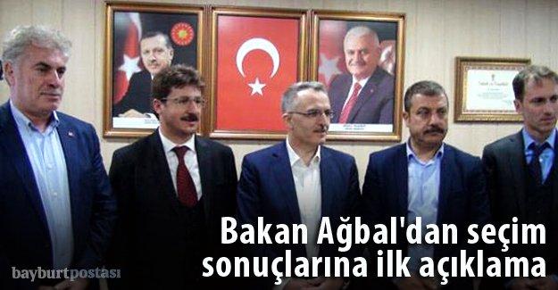Bakan Ağbal'dan seçim sonuçlarına ilk açıklama