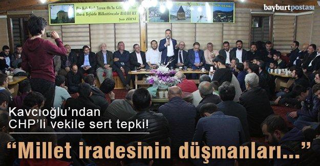 Kavcıoğlu'ndan CHP'li vekile sert tepki!