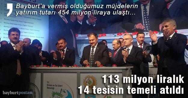 113 milyon liralık 14 tesisin temeli atıldı