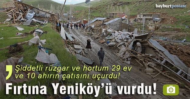 Yeniköy'de 29 evin çatısı uçtu!