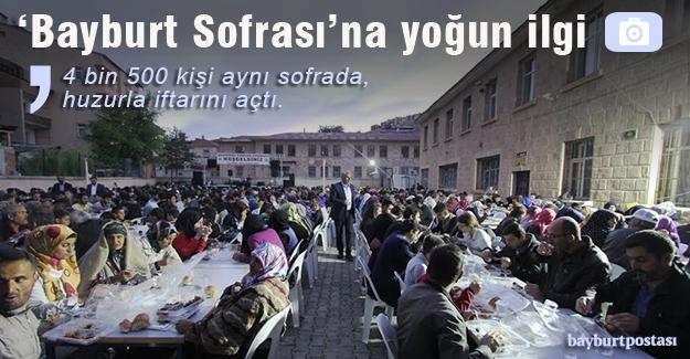 'Bayburt Sofrası' 4 bin 500 kişiyi ağırladı
