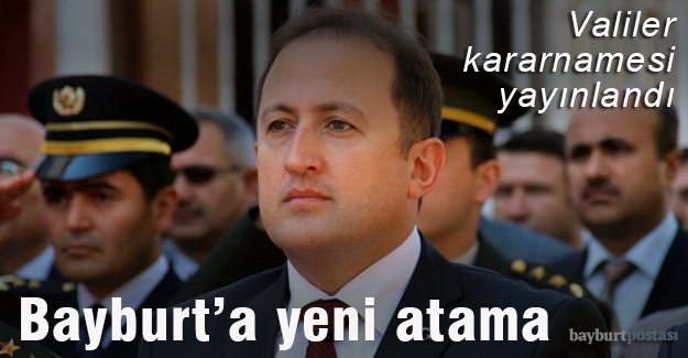 Bayburt'un yeni Valisi Ali Hamza Pehlivan