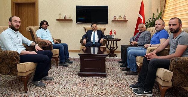 Gazeteciler Cemiyetinden Vali Ustaoğlu'na ziyaret