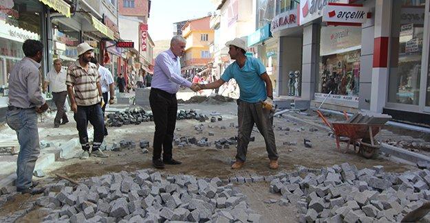 Bayburt Belediyesi üst yapı çalışmlarına hız verdi