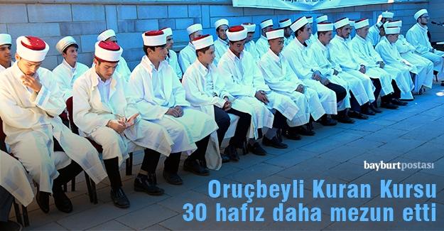 30 öğrenciye hafızlık belgeleri verildi